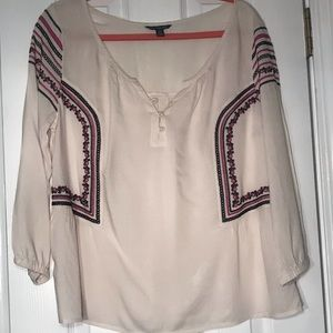 American Eagle Embroidered Shirt sz L
